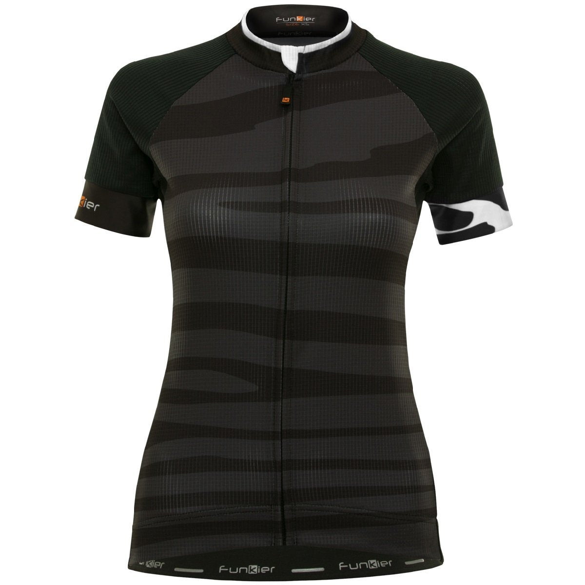 Funkier Cycle Clothing > Jersey & Jackets Funkier Prima Pro Ladies Short Sleeve Jersey in Black Wave