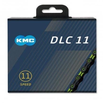 KMC Components > Chains & Chainlinks KMC X11-SL DLC Black/Green Chain