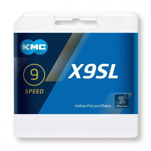 KMC Components > Chains & Chainlinks KMC X9 SL Silver Chain