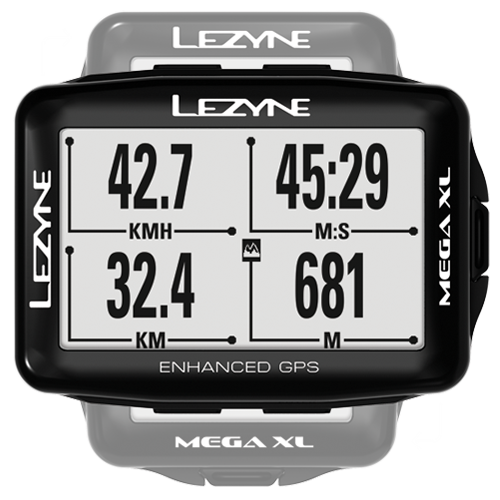 Lezyne Accessories > Computers Black Lezyne Mega XL Loaded GPS Computer