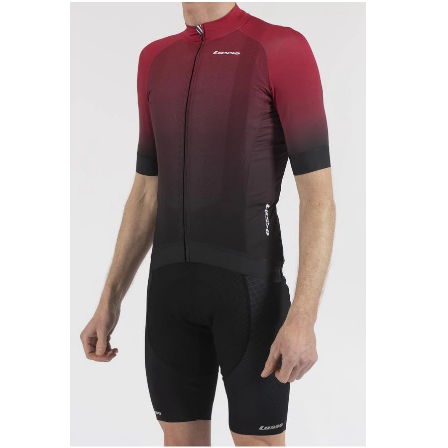 Lusso Cycle Clothing > Jersey & Jackets LUSSO FADE PLUM/BLACK SHORT SLEEVE JERSEY