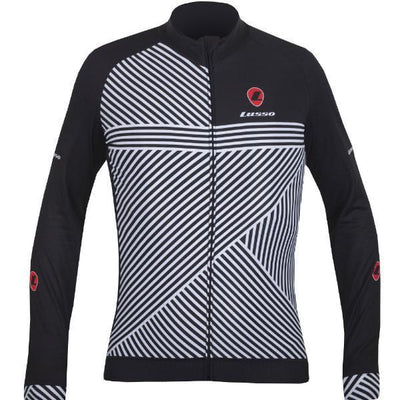 Lusso Cycle Clothing > Jersey & Jackets Lusso Stripes L/S Jersey