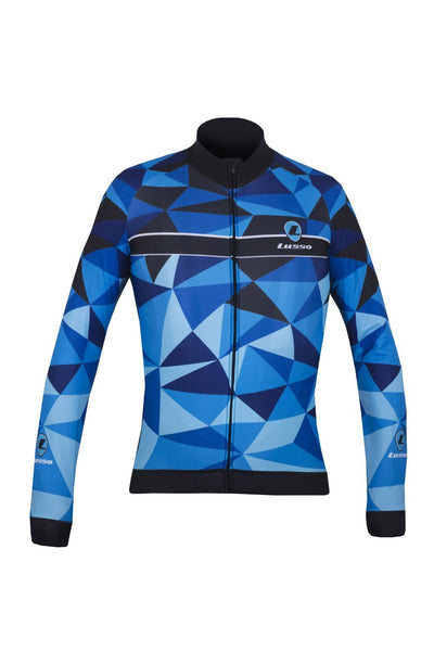 Lusso Cycle Clothing > Jersey & Jackets S / Blue Lusso Shattered L/S Jersey