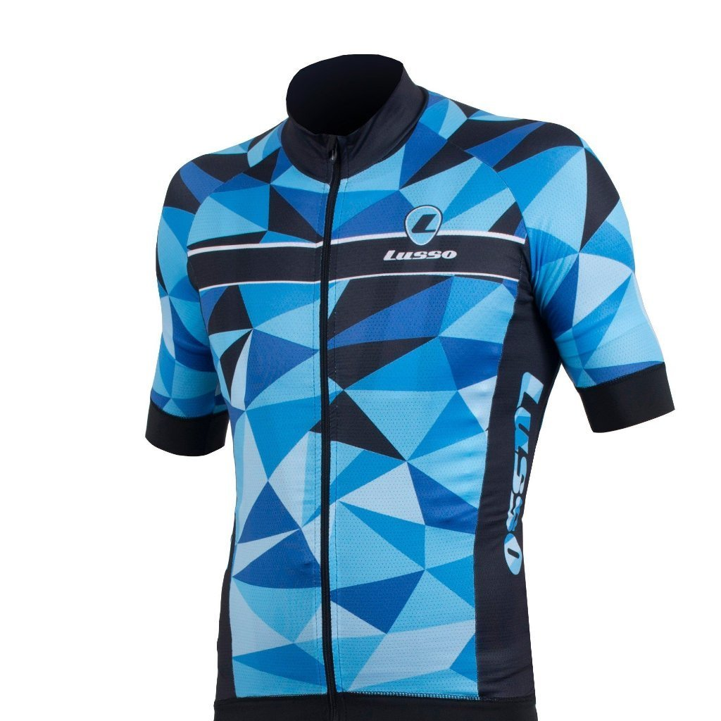 Lusso Cycle Clothing > Jersey & Jackets S / Blue Lusso Shattered S/S Jersey