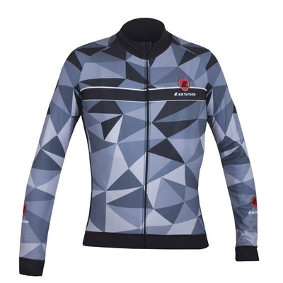 Lusso Cycle Clothing > Jersey & Jackets S / Grey Lusso Shattered L/S Jersey