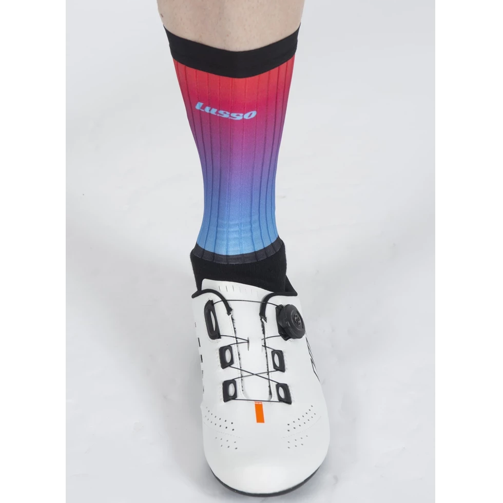 Lusso Cycle Clothing > Socks Lusso Aero Active Fade Pink Blue Socks