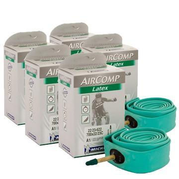 Michelin Components > Inner Tubes Michelin Aircomp Latex Innertube Pack of 5 Bundle