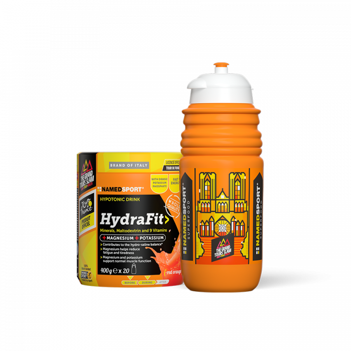 NAMEDSport Nutrition > Energy Drink,Nutrition > Energy Food NAMEDSPORT HYDRAFIT 400G WITH LIMITED EDITION TDF WATER BOTTLE