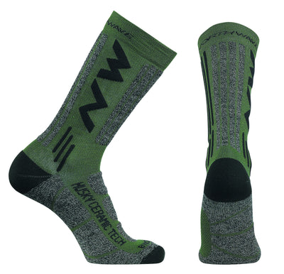 Northwave Cycle Clothing > Socks Green / Small Northwave Husky Ceramic Tech 2 High Socks