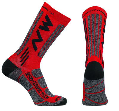 Northwave Cycle Clothing > Socks Red / Small Northwave Husky Ceramic Tech 2 High Socks