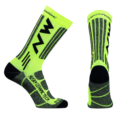 Northwave Cycle Clothing > Socks Yellow / Small Northwave Husky Ceramic Tech 2 High Socks