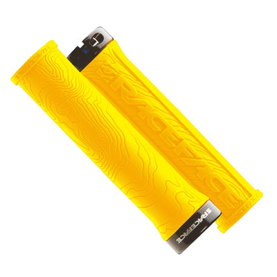 Race Face Handlebar Grips Yellow Race Face Half Nelson Lock On Grips