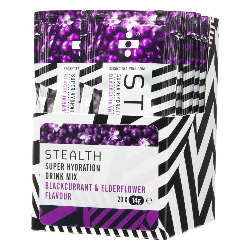 Secret Training Nutrition > Energy Drink Blackcurrant & Elderflower Secret Training STEALTH Super Hydration Drink Mix Powder X 20