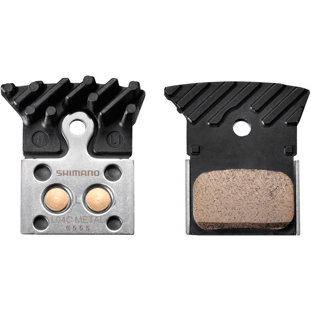 Shimano Components > Brake Pads SHIMANO L04C DISC BRAKE PADS - ALLOY BACKED WITH COOLING FINS SINTERED