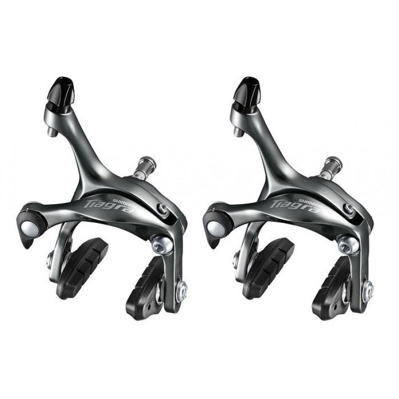Shimano Components > Brakes & Chainsets Shimano BR-4700 Tiagra brake calliper set (Front / Rear), 49 mm drop rear