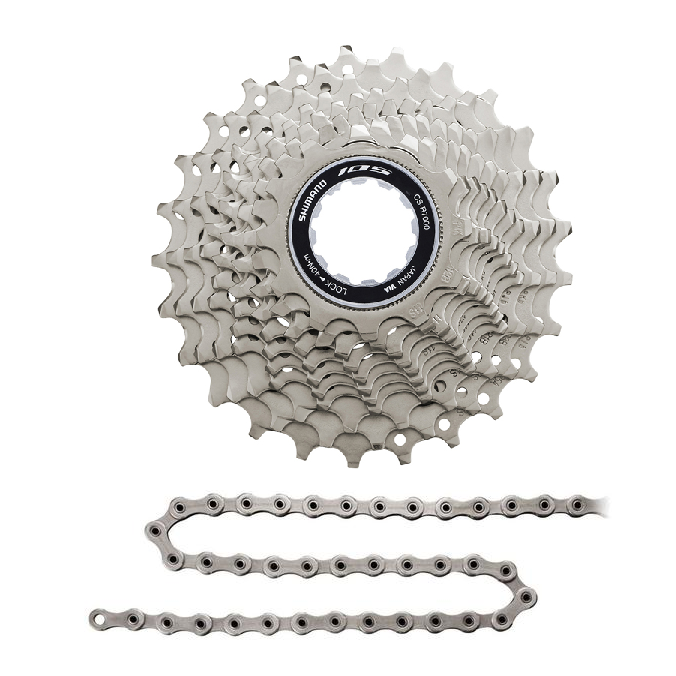 Shimano Components > Cassettes & Cables Shimano 105 R7000 Cassette 11-30 & KMC X11.93 OEM Chain