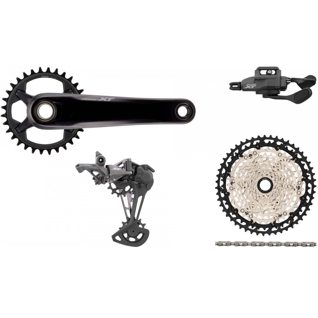 Shimano Components > Groupsets Shimano XT M8100 Boost 1 x 12 Drivetrain Groupset