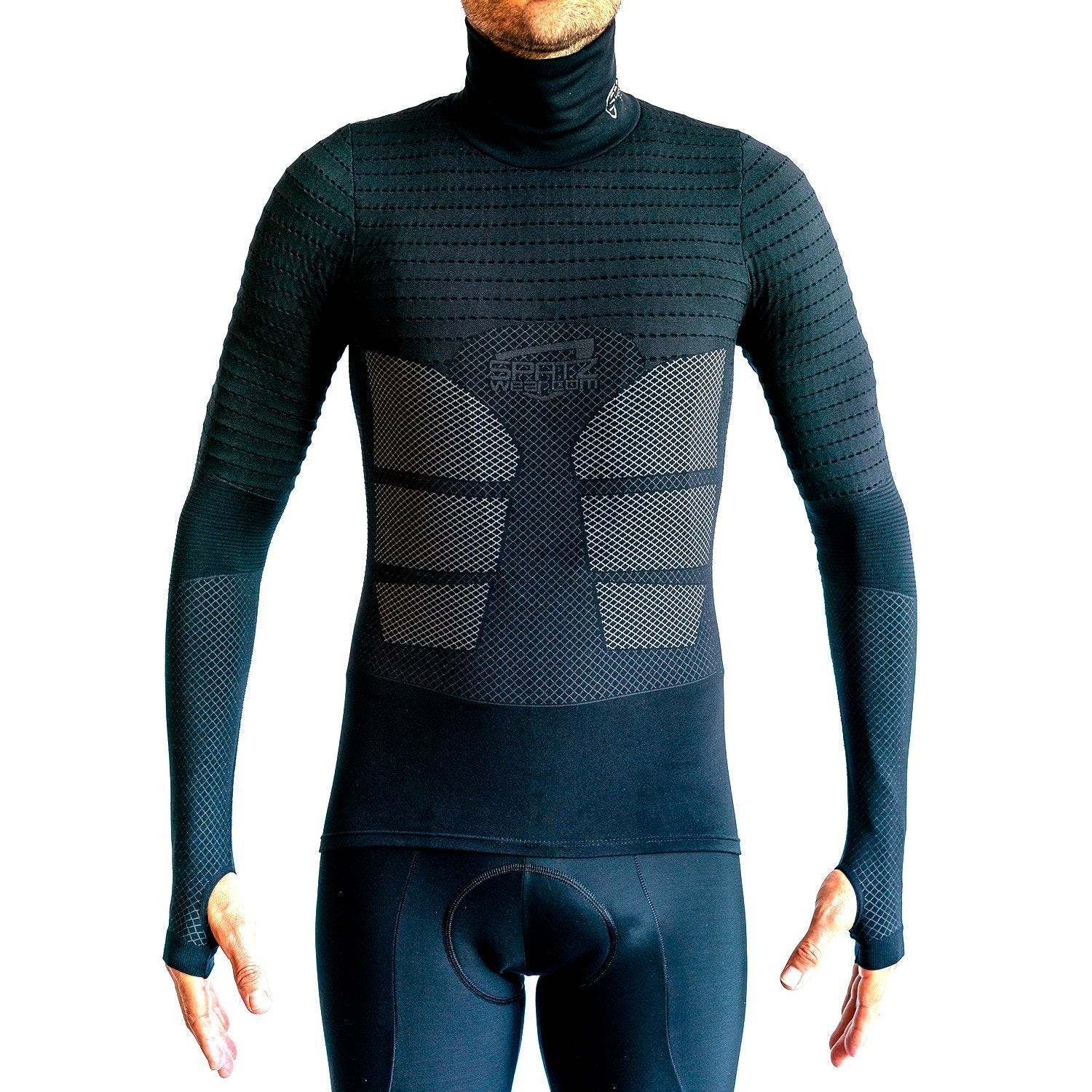Spatzwear Cycle Clothing > Baselayers SPATZWEAR 'BASEZ 2' Black Baselayer