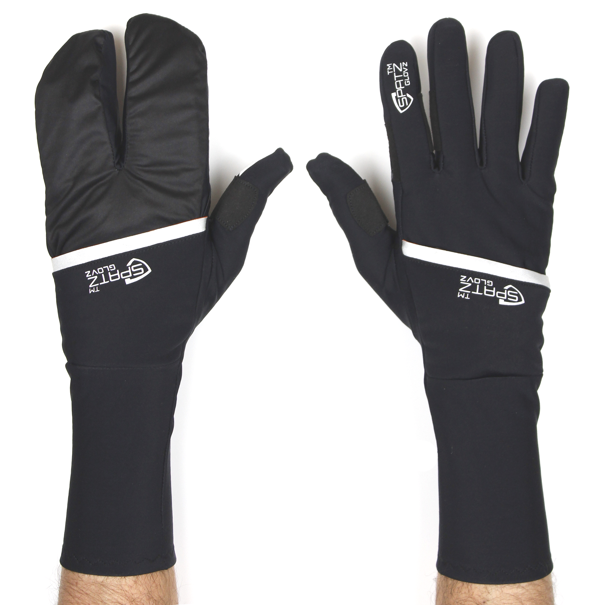 "Spatzwear Cycle Clothing > Gloves & Mitts S SPATZ ""GLOVZ"" Race Gloves with fold-out wind blocking shell"