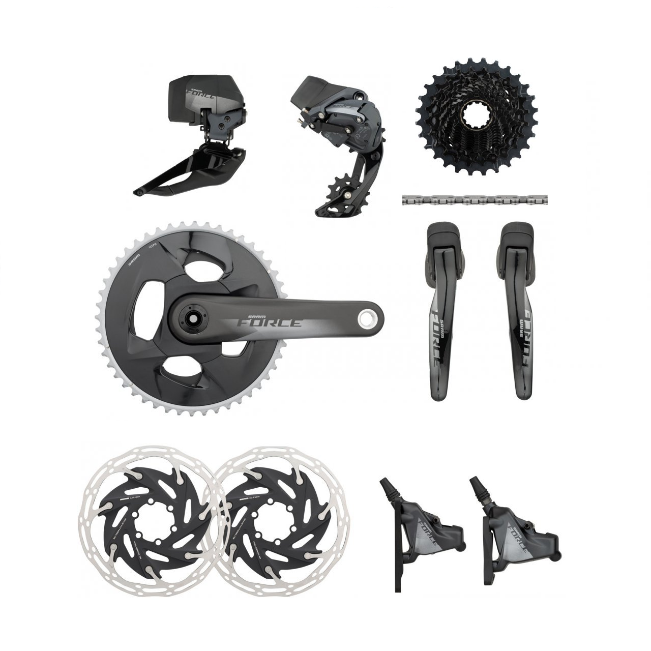 SRAM Components > Groupsets SRAM Force Etap AXS 2x12 HRD FM Groupset