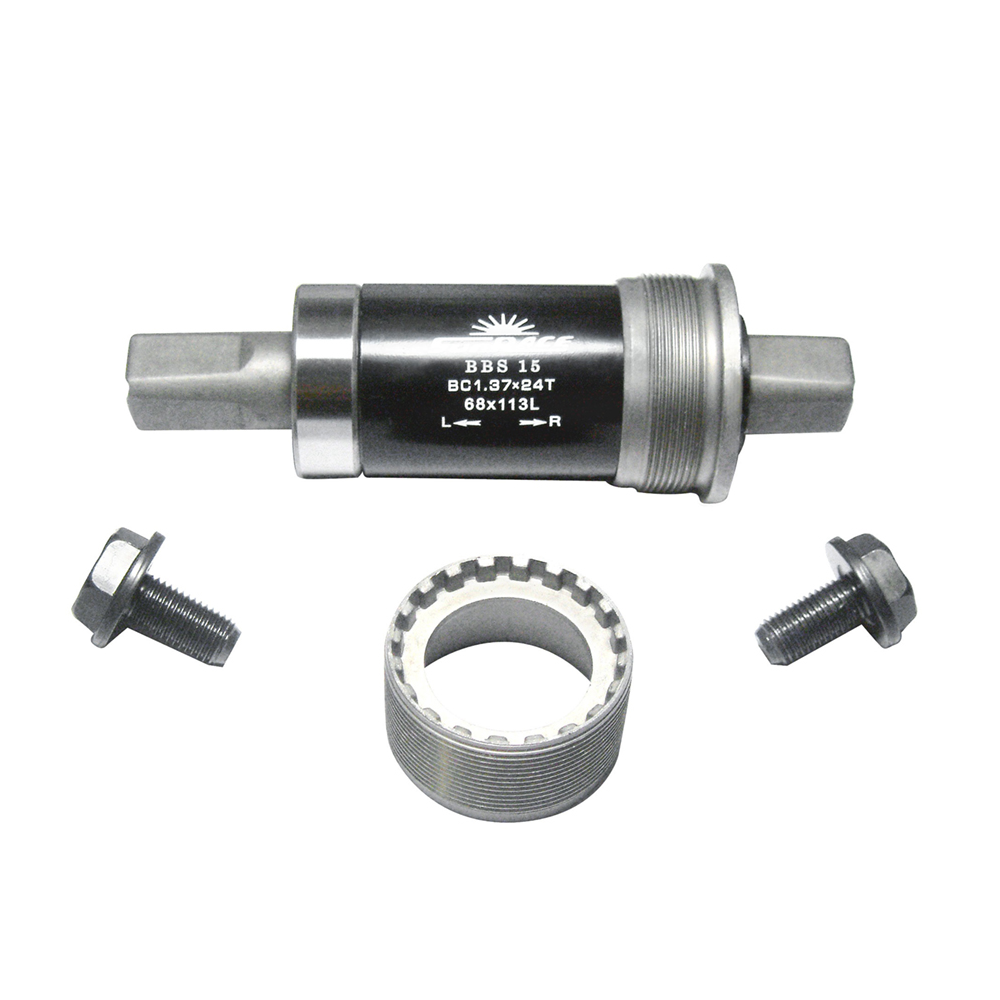 Sunrace Components > Bottom Brackets Sunrace SQUARE TAPER BOTTOM BRACKET FOR 68MM SHELL STEEL CUPS