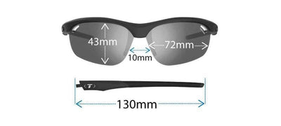 Tifosi Cycle Clothing > Sunglasses TIFOSI VELOCE READER +2.0 2018: MATTE BLACK / FOTOTEC LIGHT NIGHT SUNGLASSES