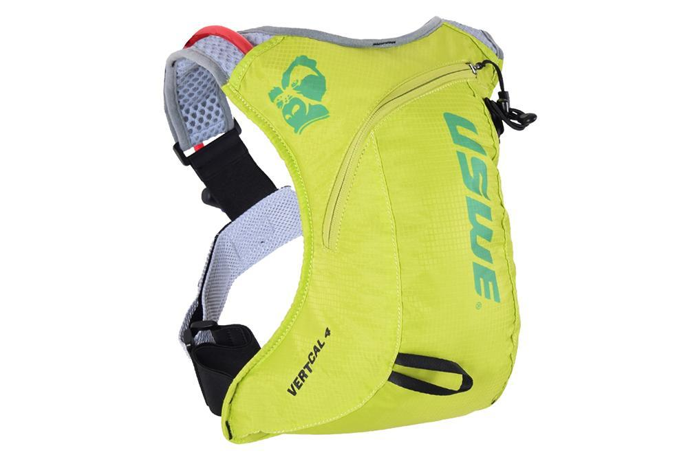 USWE Accessories > Bags & Seatpacks Crazy Yellow USWE VERTICAL 4 PLUS HYDRATION PACK WITH BLADDER