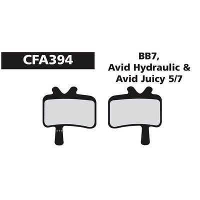 Vanillabikes Ebc Avid Juicy/BB-7/Hyd Green - CFA394 EBC DISC BRAKE PADS (STANDARD)