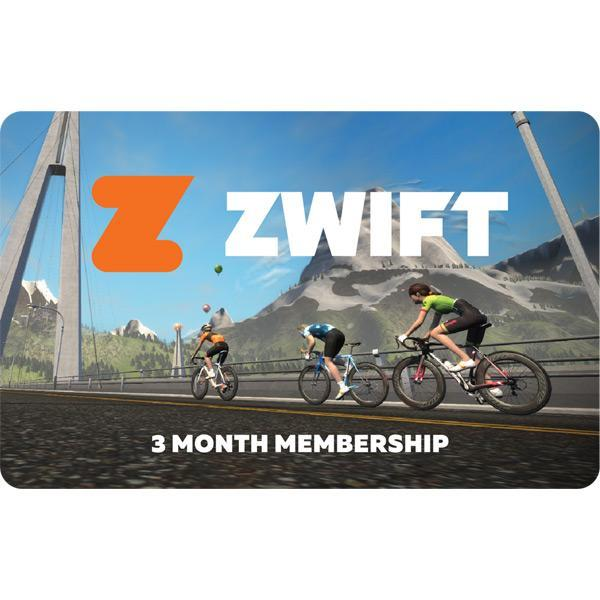 Zwift Accessories > Indoor Trainers Zwift 3 Month Membership Card