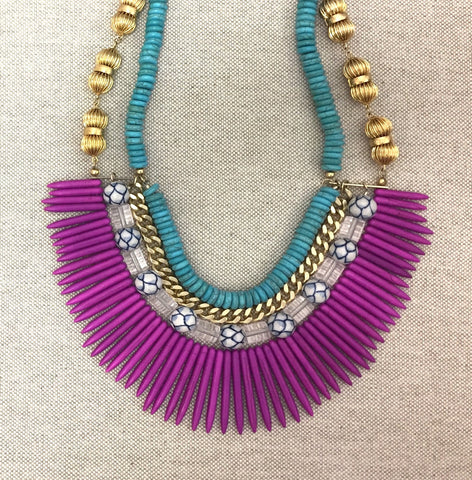 EMILY bib necklace