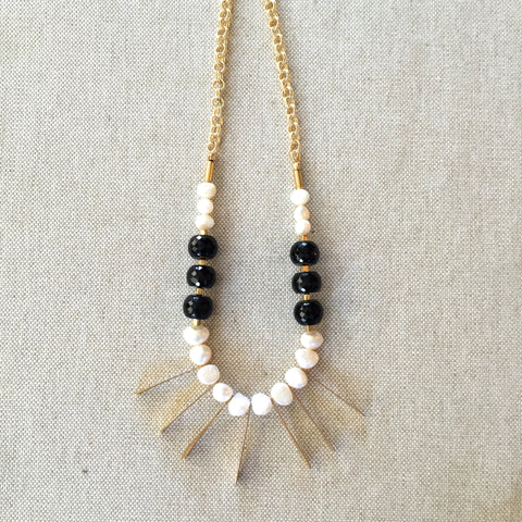 Ebony and Ivory Necklace