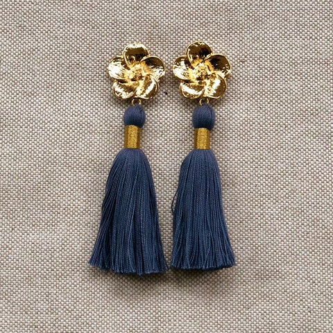 FLORA TASSEL {blue bird}