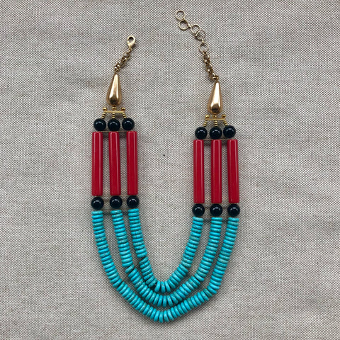 CLEOPATRA TRIPLE STRAND {bib necklace}