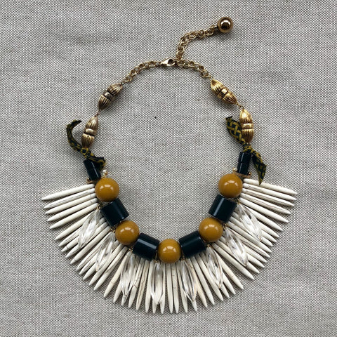 TRIBAL SPIKE {bib necklace}