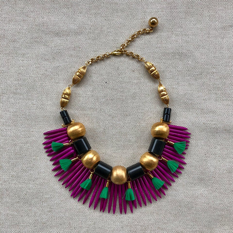 TASSEL SPIKE {bib necklace}