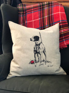 Pointer Christmas Pillow