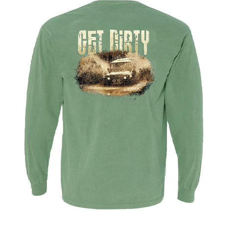 Long Sleeve Pocket Tee - Get Dirty