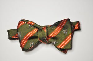 Bow Tie - Flushing Mallard (Olive Green/Red)