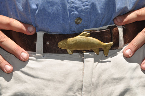 Trout Buckle and Leather Belt