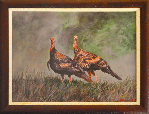 Giclee Pair of Turkeys