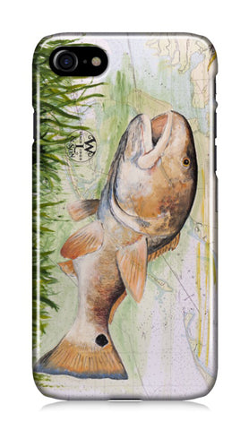 iPhone Case - Redfish in the Grass