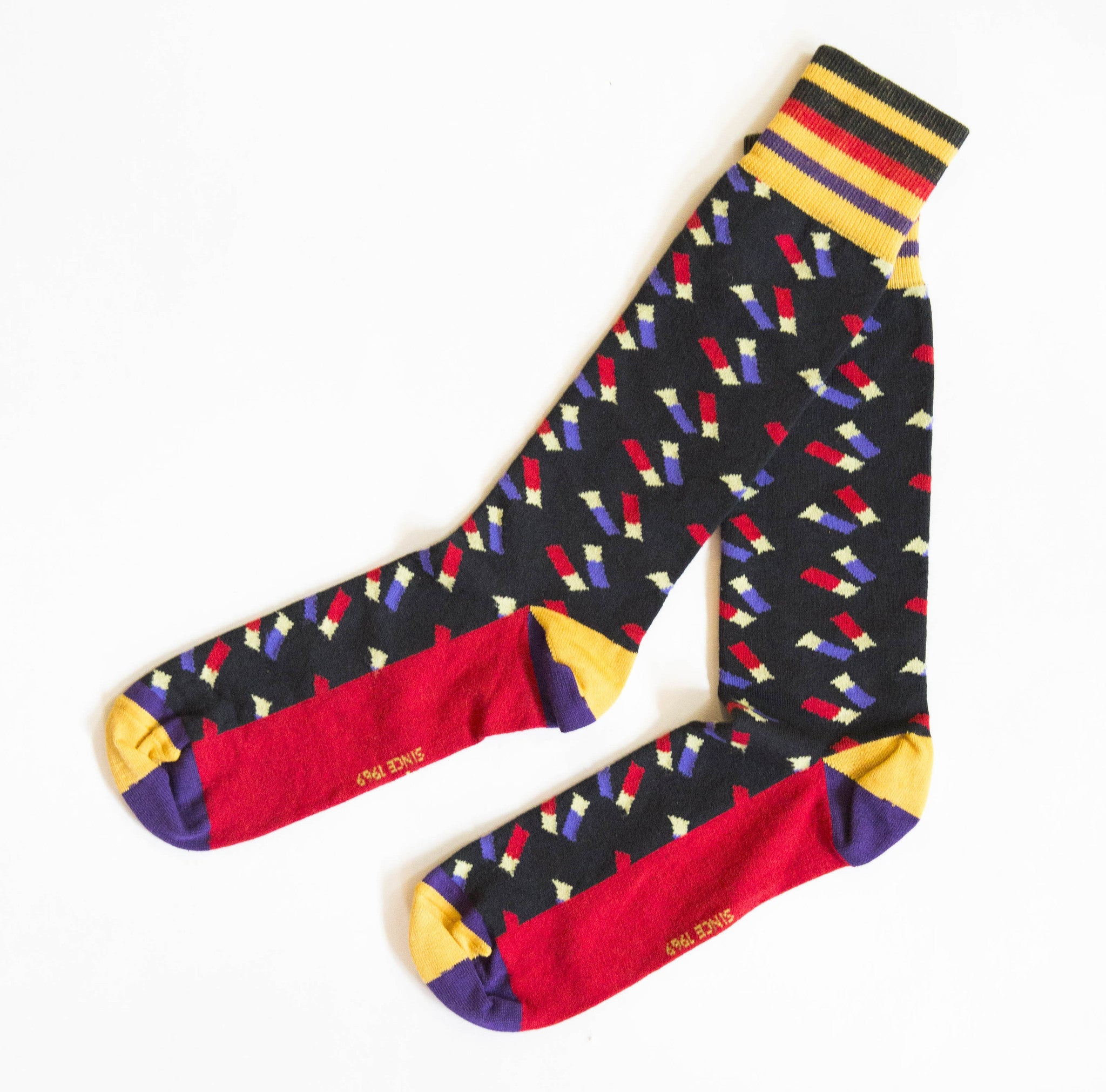 Socks - Navy Shotgun Shell