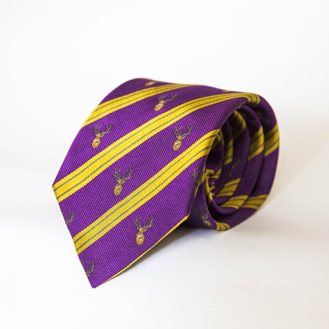 Neck Tie - Moorland Stag (Purple/Gold)