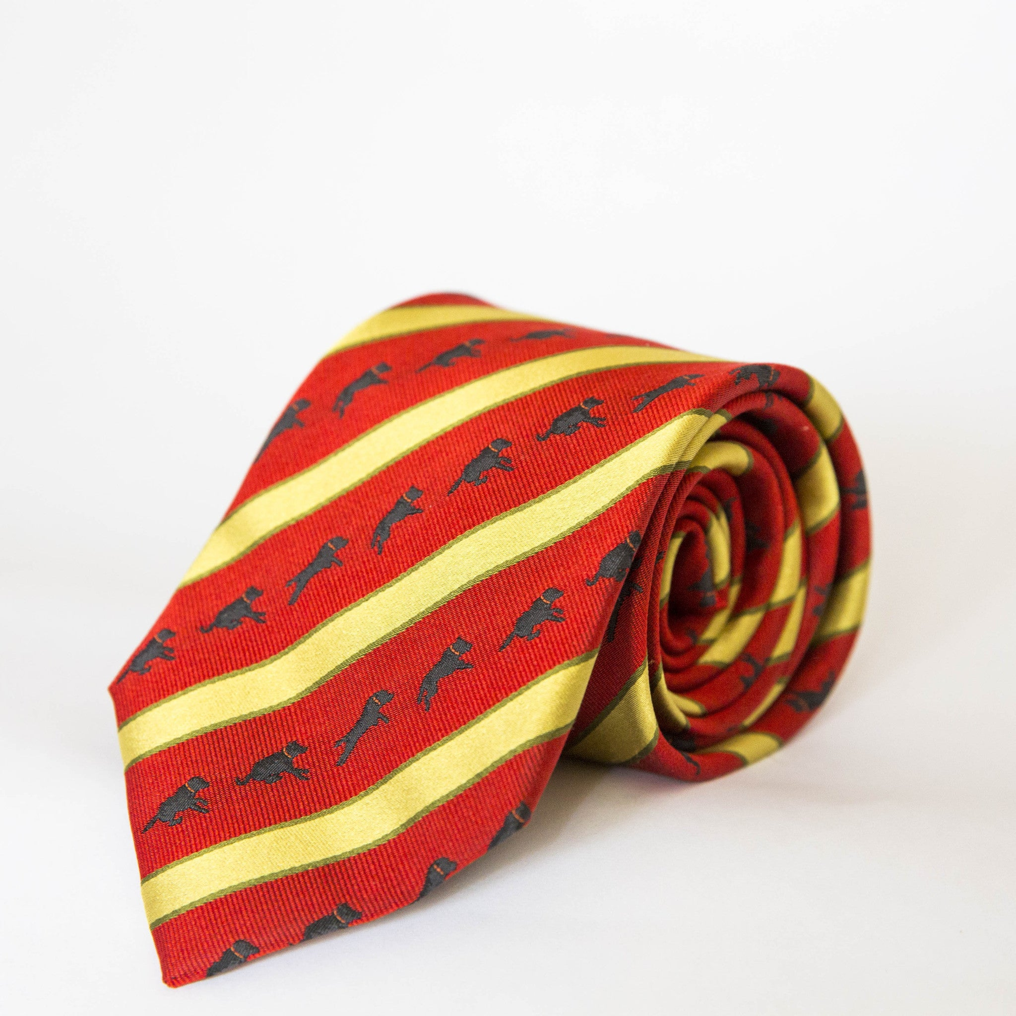 Neck Tie - Flying Wilson (Red/Gold)