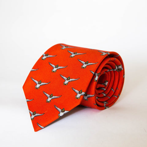 Neck Ties - Mallard (Orange)