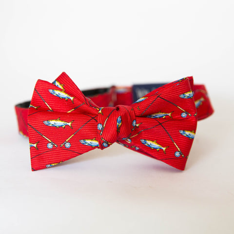 Bow Tie - Tarpon & Rod (Red)