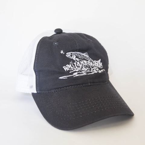 Ball Cap - Flying Trout Navy/White Mesh