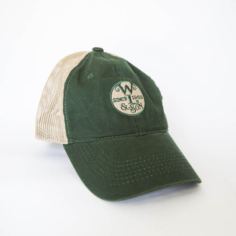 Ball Cap - Green/Tan Mesh w/ The Seal