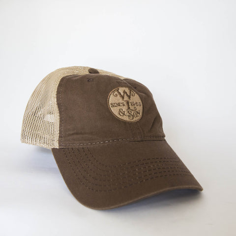 Ball Cap - Brown/Tan Mesh w/ The Seal