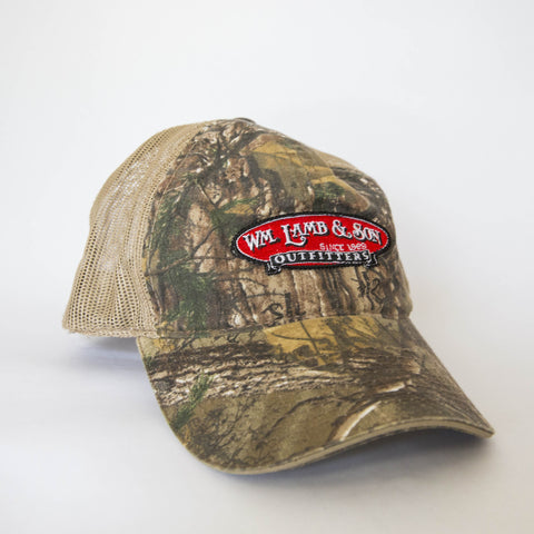 Ball Cap - Logo on Camo/Tan Mesh